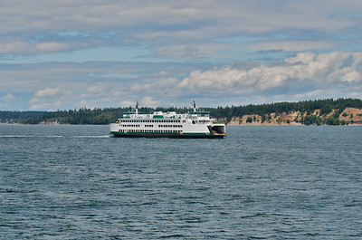 Washington State Ferry Boat Chelan heading to Anacortes, WA. from the San Juan Islands.