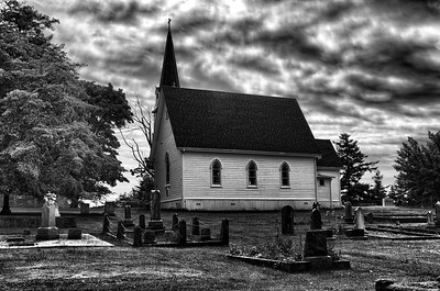 An old church on San Juan Island. Built in 1882.