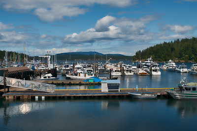 Small boat harbor at Friday Harbor, Washington