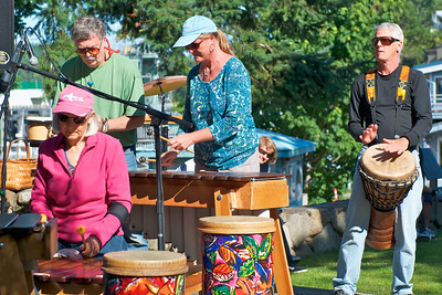 Kubatana Marimba Band plays in the park near the ferry dock at Friday Harbor.