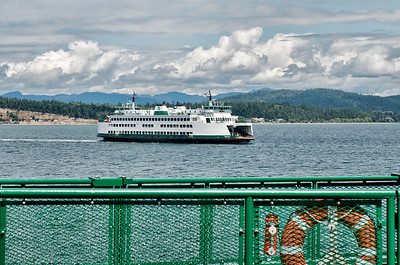Passing another ferry on our way from Anacortes to Friday Harbor.