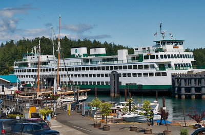 Washington State Ferry Boat Yakima at dock in Friday Harbor, WA