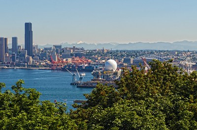 Port of Seattle from West Seattle viewpoint.