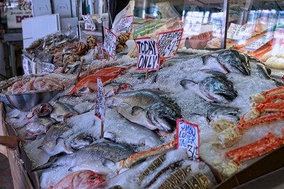 Fresh fish at the Pike Street Market in Seattle