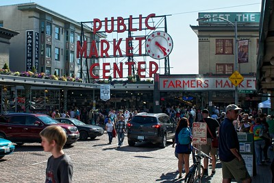 The public market in Seattle.