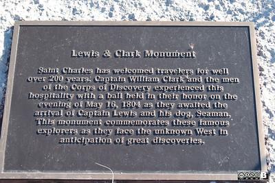 St. Louis - Lewis & Clark & Seaman Monument