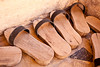 Mardin<br /> <br /> Wooden shoes at Latifiye Camii for worshipers to wear inside the mosque.