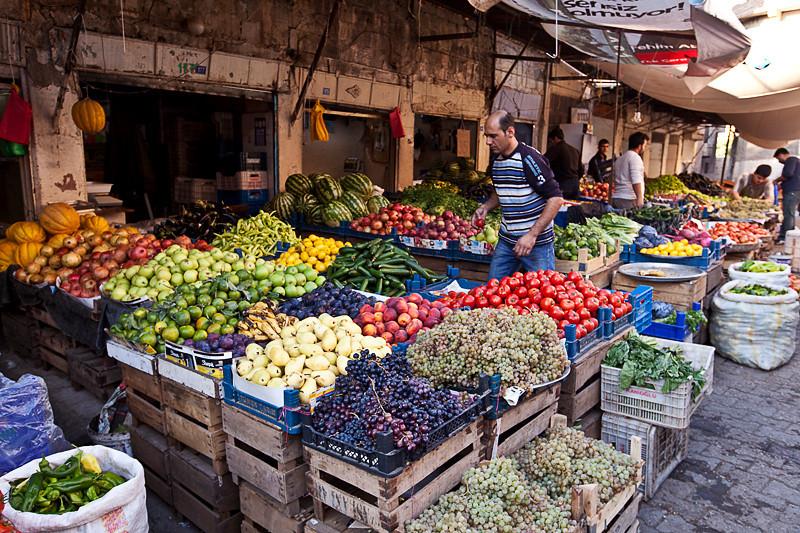 Mardin's vegetables and fruits market