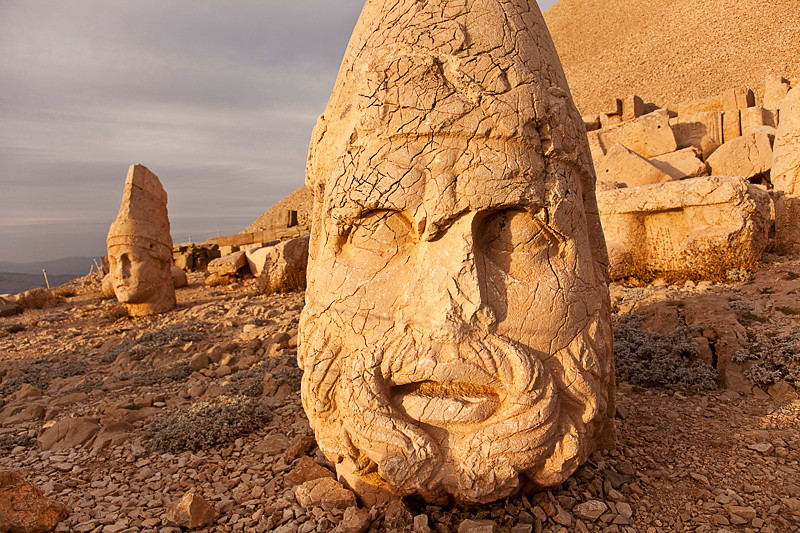 Nemrut Dagi<br /> <br /> Western terrace at sunset.
