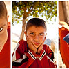 Hasankeyf<br /> <br /> I met this boy and his little sister on the river bank early one morning. They were horsing around while their father was preparing the fishing net that will provide the fishes for some of the restaurants on the opposite side of the river. The boy turned out to be quite a ham in front of the camera :)