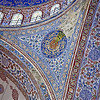 Ceiling decorations in the Blue Mosque