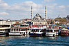This is from a ferry on the Golden Horn looking at Eminonu harbor and the New Mosque in the background.