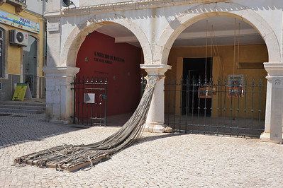Mercado de escravos, Slave market. It was here during the 15th century where the first slaves, captured and transported from Africa, were sold.