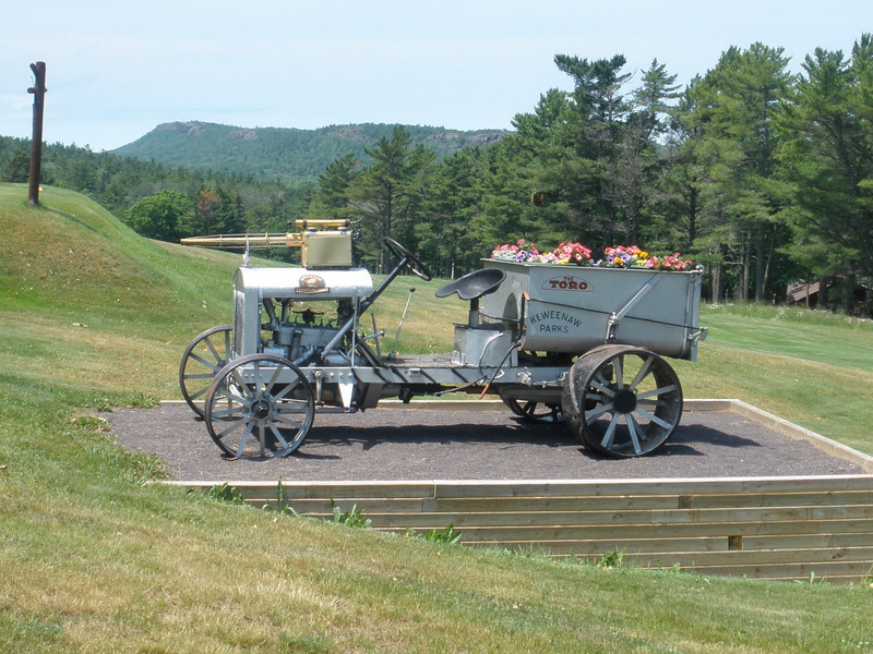 Toro utility vehicle at Copper Harbor resort constructed by CCC