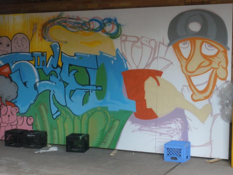 Street art in Houghton