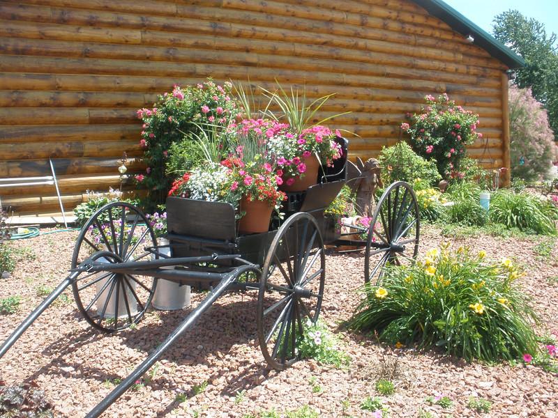 Plant wagon at McDonalds