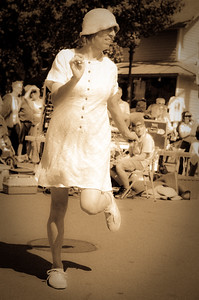 Modern Day Flapper, Tivoli Day, Oak Bluffs MA