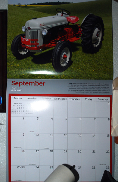 2012-09 Calender dates Ford 8N