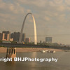 The Gateway Arch, or Gateway to the West,[5] is an arch that is the centerpiece of the Jefferson National Expansion Memorial in St. Louis, Missouri. It was built as a monument to the westward expansion of the United States. At 630 feet (192 m), it is the tallest man-made monument in the United States,[4] Missouri's tallest accessible building, and the largest architectural structure designed as a weighted or flattened catenary arch.[4]