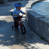Kid and his bike at Seattle Sculpture Park