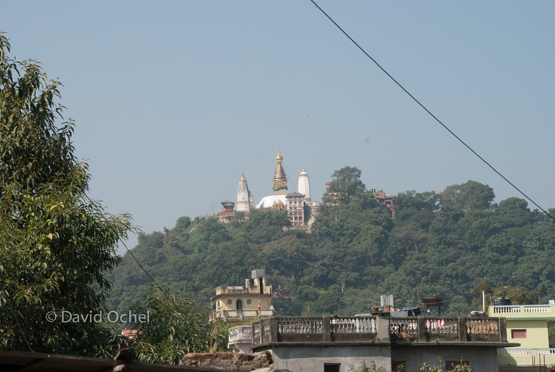 View of the Swayambhunath temple.