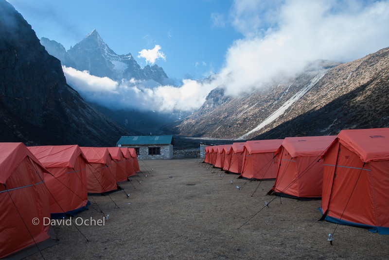 Organized tourist trekking. Paying extra for staying in tents instead of lodges?