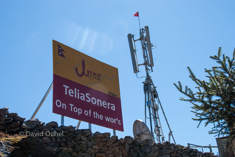 Cell phone reception everywhere in the Khumbu. (Well, at least along the trekking routes.)