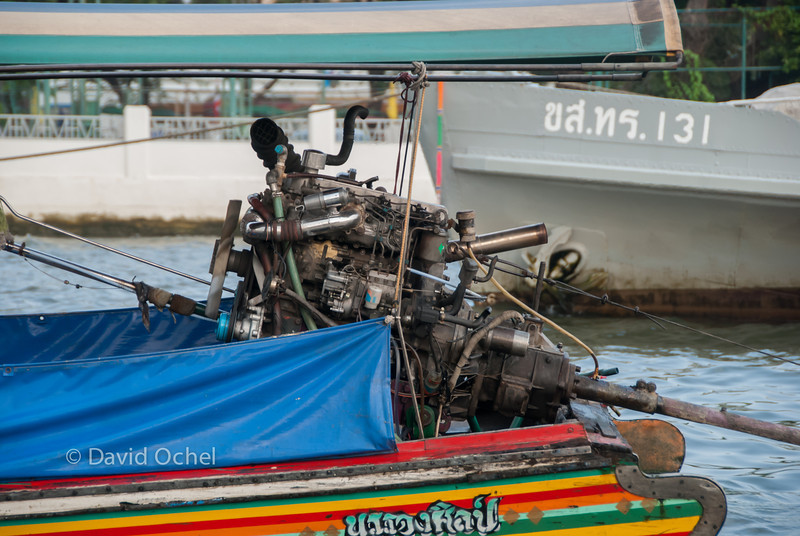 Long-boat motor.