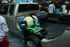 Thailand International Motor Expo 2012. Toyota Hilux CNG runs on petrol and natural gas.