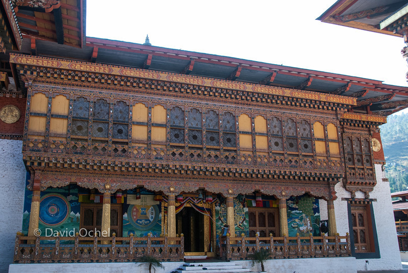 Entrance to the temple in the dzong.
