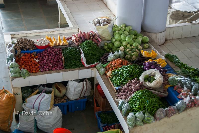 At the market.