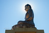 The largest (cross-legged?) sitting Buddha statue is being erected in Thimphu.