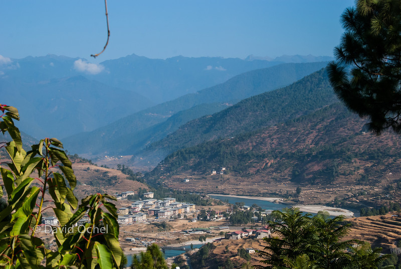 View of Punakha from our lodge.