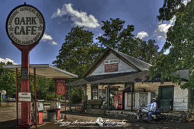 Oark Cafe in Oark, Arkansas is the oldest continuous running established business in the state...they also make a good burger and homemade pie