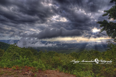 In the clouds on the Talimena Scenic Drive between Arkansas and Oklahoma 2012
