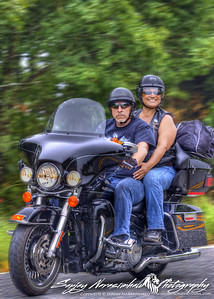 Ken & Lizz Bandy riding the Talimena Scenic Drive in Arkansas 2012