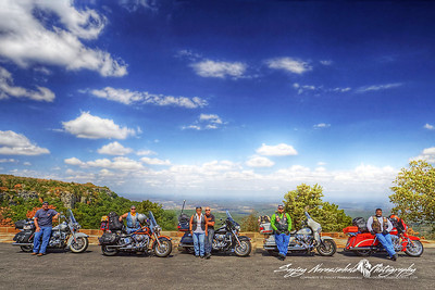 Texas Harleys on Mount Magazine, Arkansas 2012