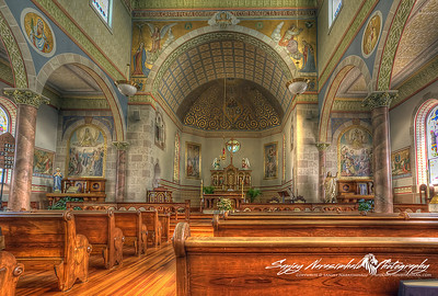 Another view of inside St. Mary's Church in Ozark, Arkansas