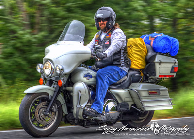 Christopher Briggs riding the Talimena Scenic Drive in Arkansas 2012