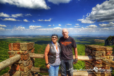 Ken & Lizz Bandy on Mount Magazine, Arkansas 2012
