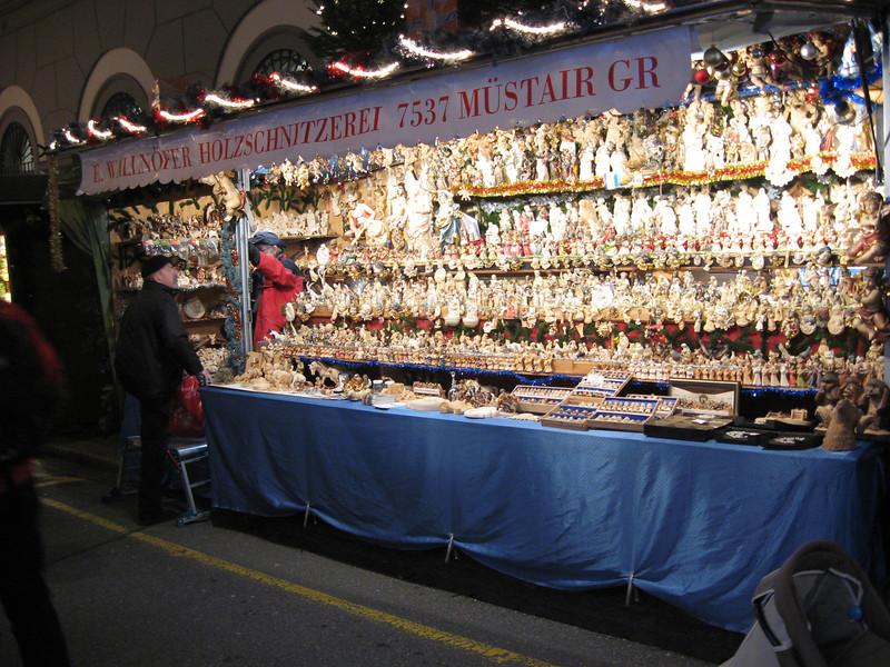 nativity scene items at the Barfusserplatz Xmas market