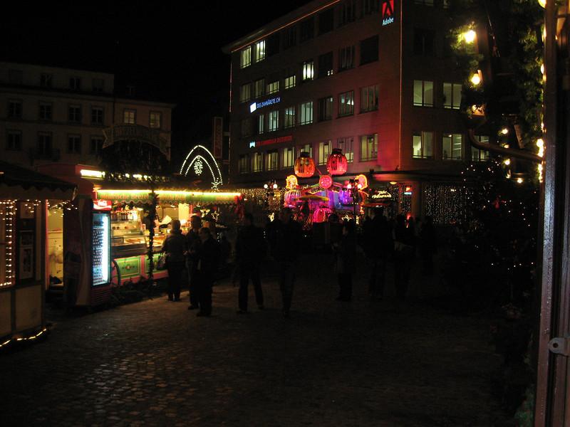 Part of the Barfusserplatz Xmas market