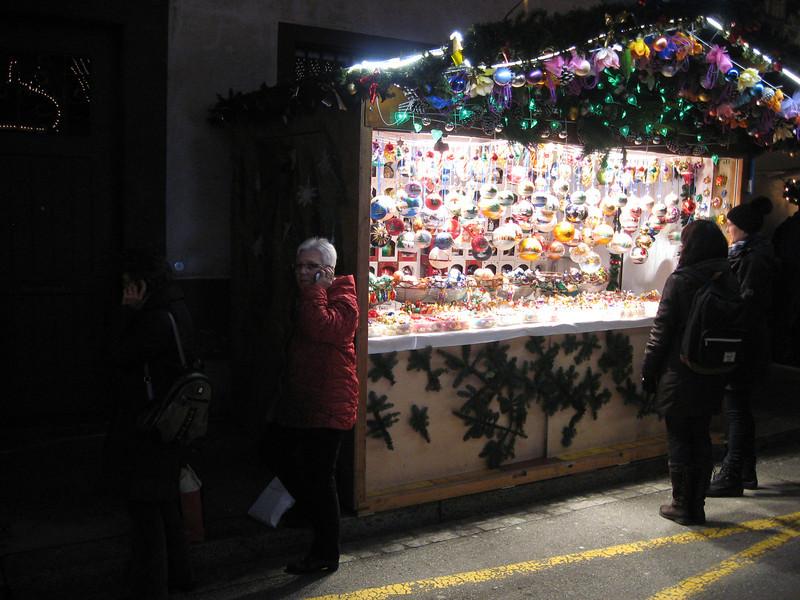 Ornaments at the Barfusserplatz Xmas market