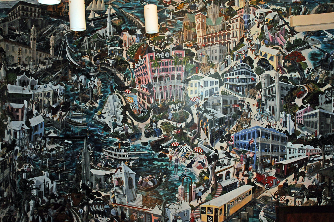 Mural by Graham Foster at the National Museum of Bermuda in the Dockyards