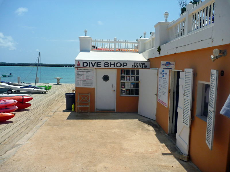 Dive shop at Grotto Bay Resort