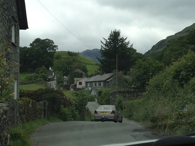 The drive to Hardknott pass, Lakes District, England