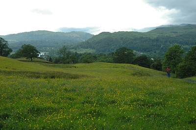 Hiking to Wansfell Pike, Ambleside, Lakes District, England.