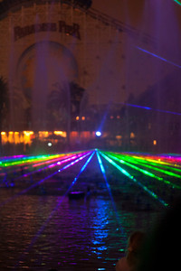 World of color and lasers.