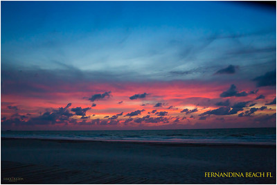 Morning sky at Fernandina Beach FL just before sunrise