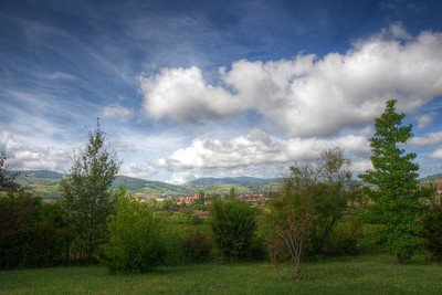 Morning Skies over French Countryside (HDR)